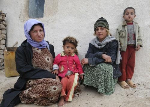 イラクの母子
